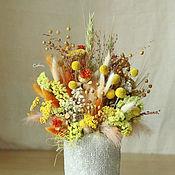 Композиции ручной работы. Ярмарка Мастеров - ручная работа Полдень в саванне (композиция из сухоцветов в вазе). Handmade.