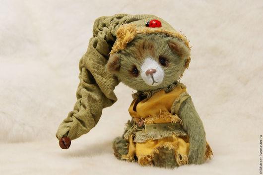 Мишки Тедди ручной работы. Ярмарка Мастеров - ручная работа. Купить Лесной гномик Мася)))  мишка Тедди. Handmade. Оливковый