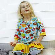 """Платья ручной работы. Ярмарка Мастеров - ручная работа Платье """" С пончиками"""" из семейного комплекта. Handmade."""