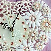 Для дома и интерьера ручной работы. Ярмарка Мастеров - ручная работа часы из стекла, фьюзинг  От чистого сердца. Handmade.