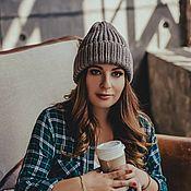 Аксессуары handmade. Livemaster - original item Winter hat of taupe color. Handmade.