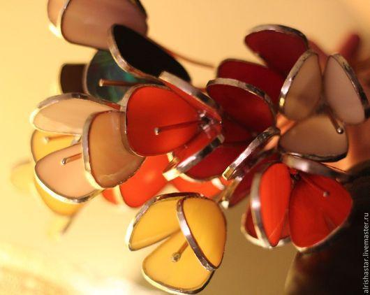Цветы ручной работы. Ярмарка Мастеров - ручная работа. Купить ЦВЕТОЧЕК - ЦВЕТУЁЧЕК. Handmade. Разноцветный, фиолетовый, подарок женщине
