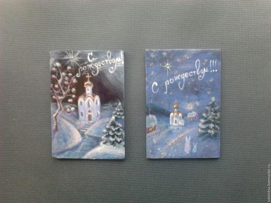 Рождество - лаковая миниатюра+магнит