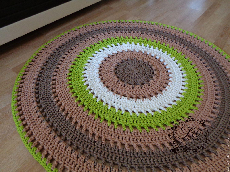 Вязание коврики спицами 22