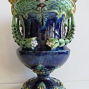 Винтаж handmade. Livemaster - original item 19th century Antique vase amphora Majolica Austria. Handmade.