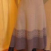 Одежда ручной работы. Ярмарка Мастеров - ручная работа юбка вязанная с каймой. Handmade.