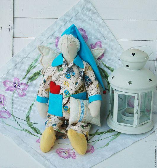 Куклы Тильды ручной работы. Ярмарка Мастеров - ручная работа. Купить Сонный ангел Сплюшка. Handmade. Бирюзовый, кукла в подарок