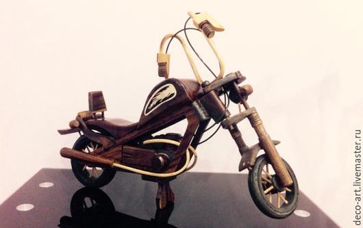 Ретро Мото. Деревянная модель. Деко Арт.