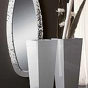 Для дома и интерьера handmade. Livemaster - original item Mirror in mosaic frame, silver, oval. Handmade.