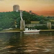 Картины и панно handmade. Livemaster - original item The author`s picture of the Bosphorus.Morning. Handmade.