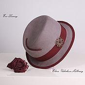 """Аксессуары handmade. Livemaster - original item Фетровая шляпка европейская классика мода 2018 года  """"Аурика"""". Handmade."""