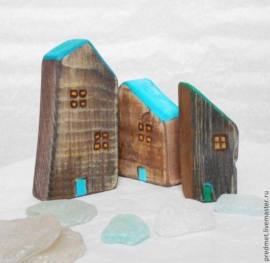 Статуэтки ручной работы. Ярмарка Мастеров - ручная работа. Купить Другой городок. Handmade. Домик деревянный, домики из дерева