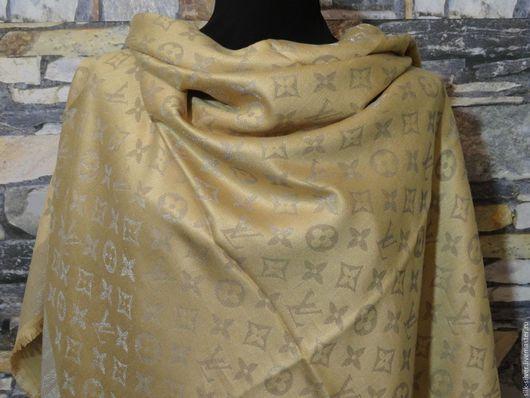 Шали, палантины ручной работы. Ярмарка Мастеров - ручная работа. Купить Платоки из ткани Louis Vuitton. Handmade. Шерсть, платок