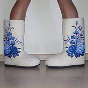 Обувь ручной работы handmade. Livemaster - original item Boots for snow maiden. Handmade.