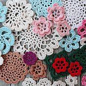 Цветы и флористика ручной работы. Ярмарка Мастеров - ручная работа Вязанные элементы для декора и скрапбукинга. Handmade.