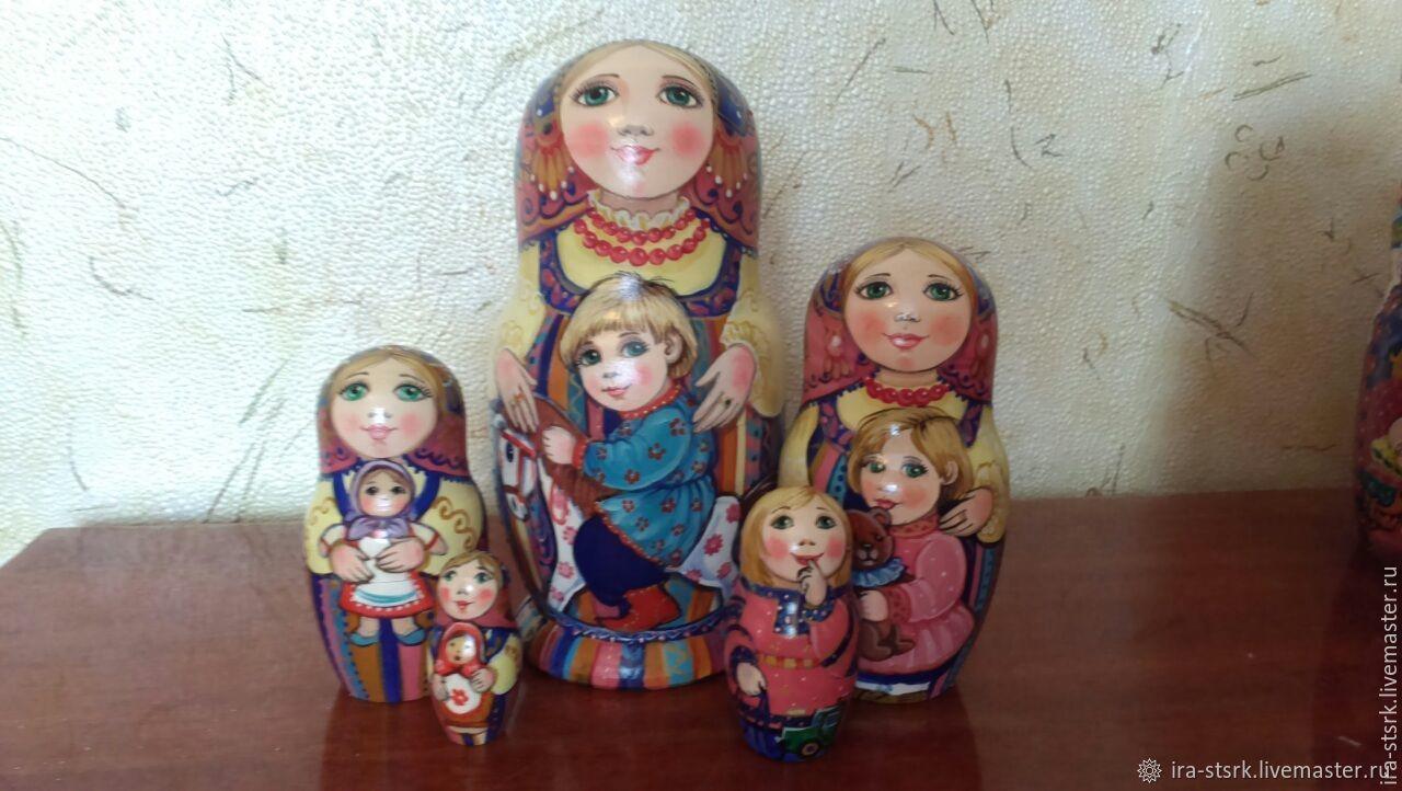 Matryoshka in a striped sundress, Dolls1, Vitebsk,  Фото №1