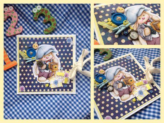 Детские открытки ручной работы. Ярмарка Мастеров - ручная работа. Купить Открытка для мальчика. Handmade. Открытка ручной работы