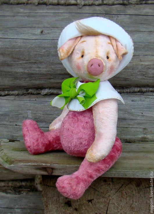 Мишки Тедди ручной работы. Ярмарка Мастеров - ручная работа. Купить Фунтик.... Handmade. Розовый, ooak, винтажный мишка Тедди