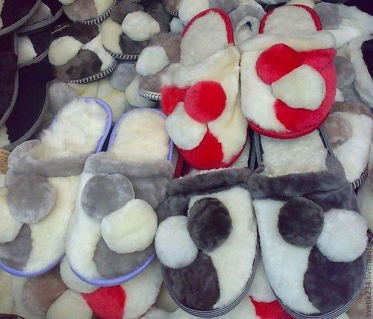 Обувь ручной работы. Ярмарка Мастеров - ручная работа. Купить Тапки из овчины. Handmade. Тапки, овчина