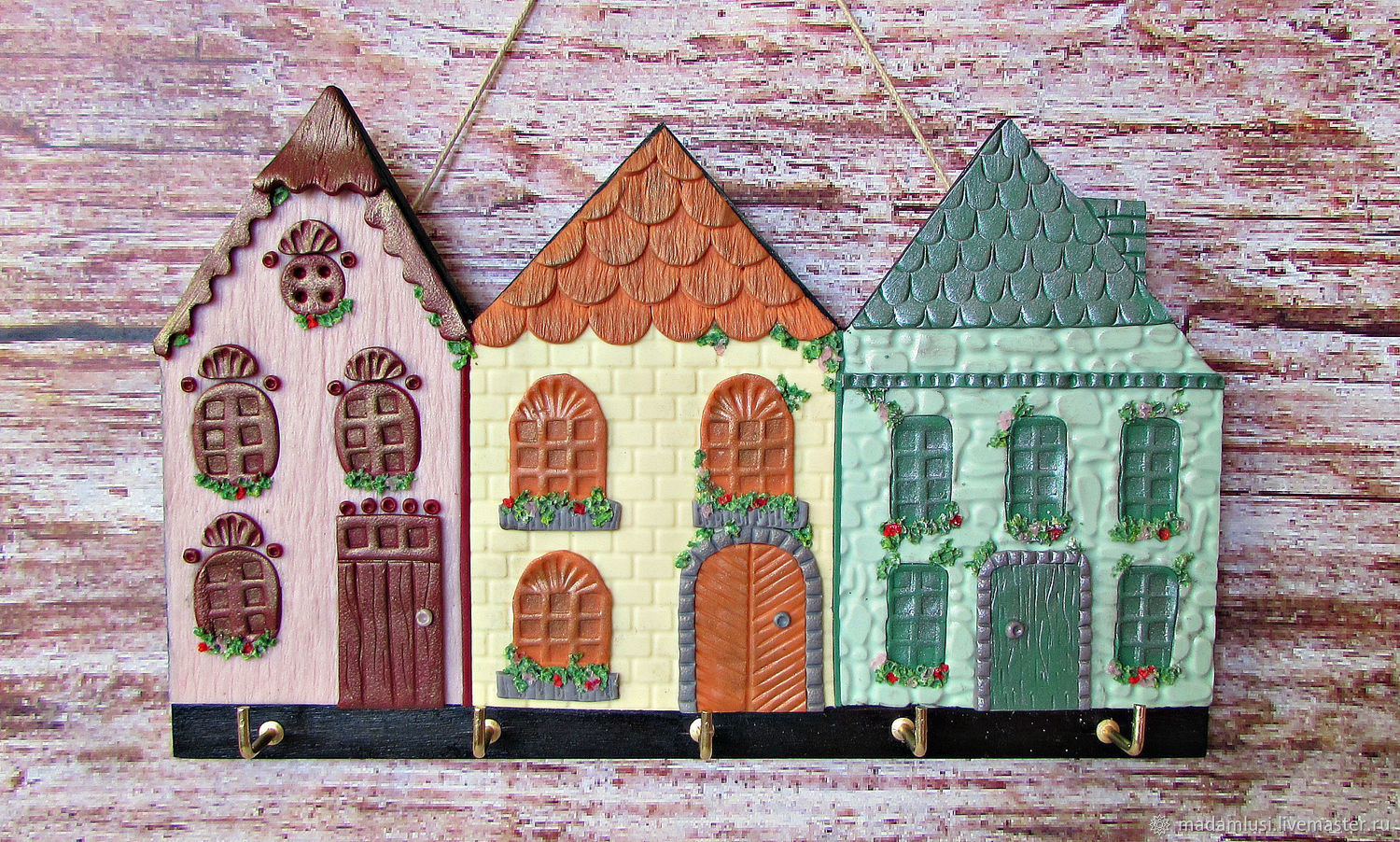 Entrance Hall handmade. Livemaster - handmade. Buy Housekeeper Summer in Marseille. The housekeeper wall. decor polymer clay.