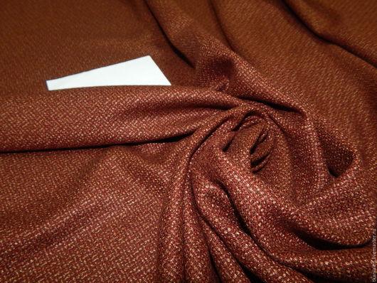 Шитье ручной работы. Ярмарка Мастеров - ручная работа. Купить Шерстяная ткань, Италия. Handmade. Рыжий, костюм, ткань италия