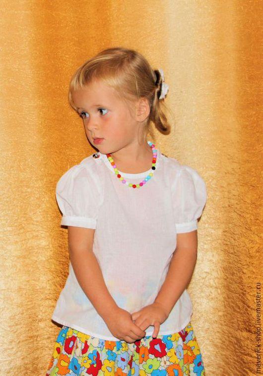 Одежда для девочек, ручной работы. Ярмарка Мастеров - ручная работа. Купить Блузка для девочки из батиста. Handmade. Блузка для девочки