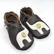 Одежда детская handmade. Livemaster - original item Elephant Baby Shoes, Baby Mocasins, Soft Sole Baby Shoes. Handmade.