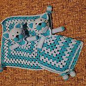 Куклы и игрушки ручной работы. Ярмарка Мастеров - ручная работа Комфортер котики близнецы. Handmade.