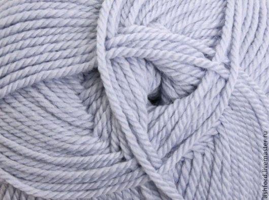 """Вязание ручной работы. Ярмарка Мастеров - ручная работа. Купить Пряжа для вязания, шерсть """"Бледно- голубая"""". Handmade. Голубой"""