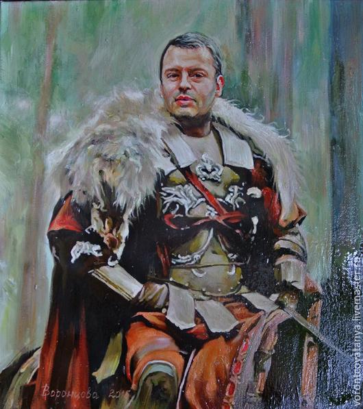 """Люди, ручной работы. Ярмарка Мастеров - ручная работа. Купить """"Lancelot"""".. Handmade. Разноцветный, портрет, портрет по фотографии, картина маслом"""
