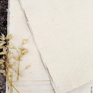 Материалы для творчества ручной работы. Ярмарка Мастеров - ручная работа Овсяная бумага ручного литья. Handmade.