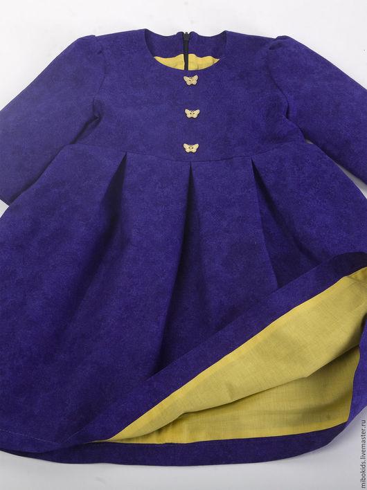 Одежда для девочек, ручной работы. Ярмарка Мастеров - ручная работа. Купить Платье Фиолетовое счастье. Handmade. 100% хлопок