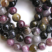 Материалы для творчества handmade. Livemaster - original item Tourmaline beads smooth ball. Handmade.