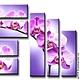 """Картины цветов ручной работы. Ярмарка Мастеров - ручная работа. Купить Полиптих """"Яркие Орхидеи"""". Handmade. Орхидеи, картина в подарок"""