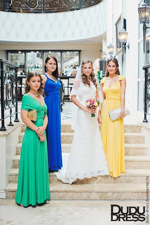 4db0c4c17aa Купить Платья-трансформеры для подружек Платья ручной работы. Платья-трансформеры  для подружек невесты разноцветные. Dudu-dress.