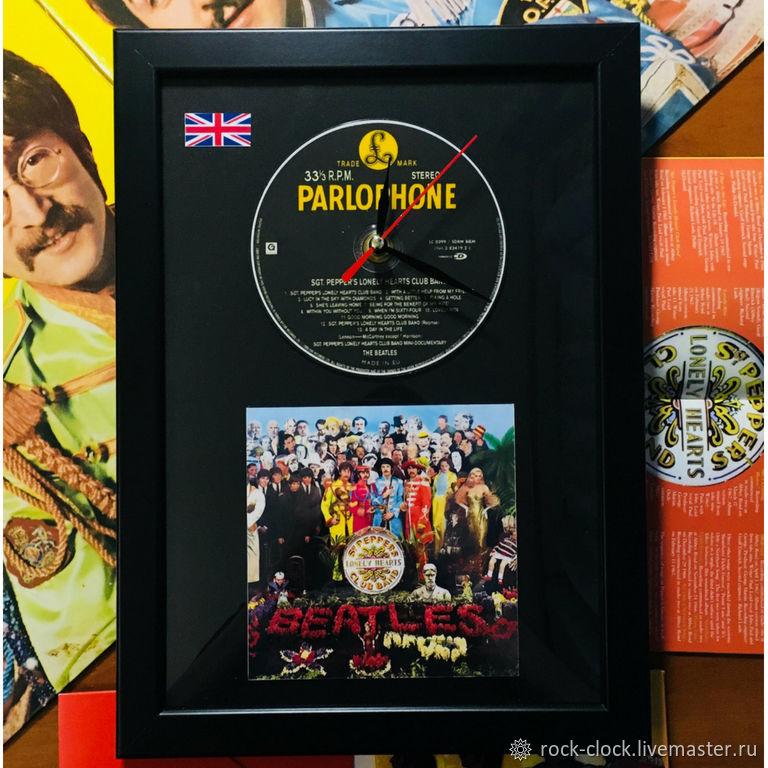 """Настенные часы The Beatles """"Sgt. Pepper's Lonely Hearts Club Band"""", Часы, Санкт-Петербург, Фото №1"""