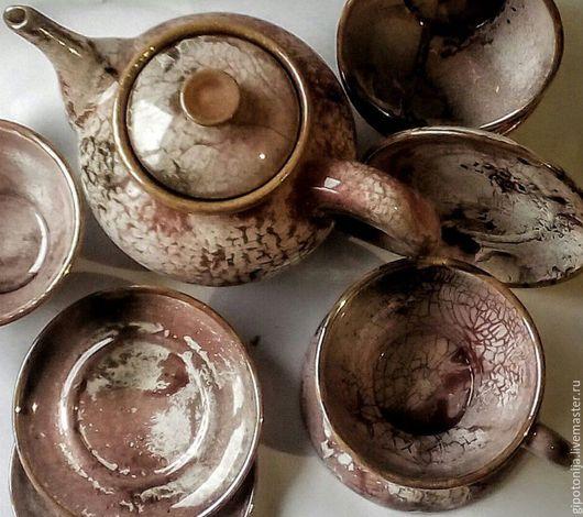 """Сервизы, чайные пары ручной работы. Ярмарка Мастеров - ручная работа. Купить Чайный комплект  """"Забытая тайна"""". Handmade. глазурь"""