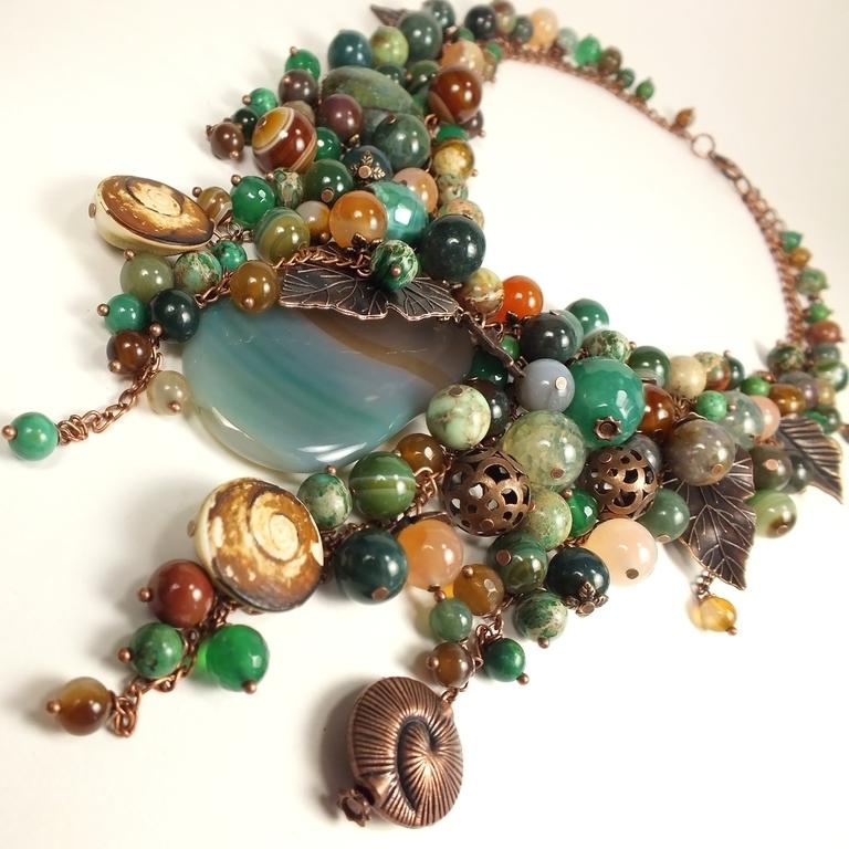 Emerald Coast Caramel. necklace, Necklace, St. Petersburg,  Фото №1