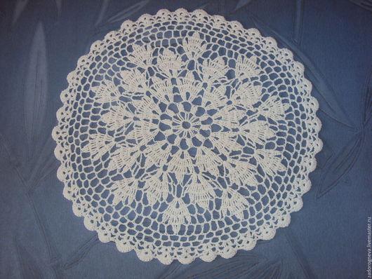 Текстиль, ковры ручной работы. Ярмарка Мастеров - ручная работа. Купить Салфетка 8. Handmade. Белый, Вязание крючком