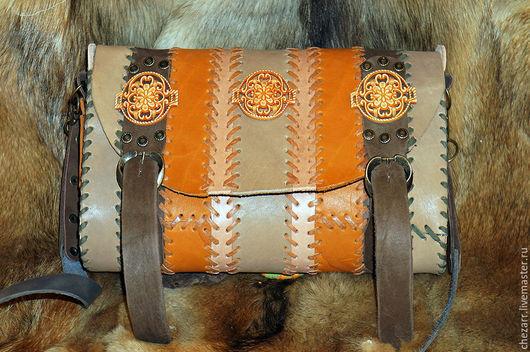 Женские сумки ручной работы. Ярмарка Мастеров - ручная работа. Купить Кожаная сумка в полоску. Handmade. Комбинированный, кожа