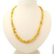 Украшения handmade. Livemaster - original item Beads Honey amber natural stone amber decoration yellow. Handmade.