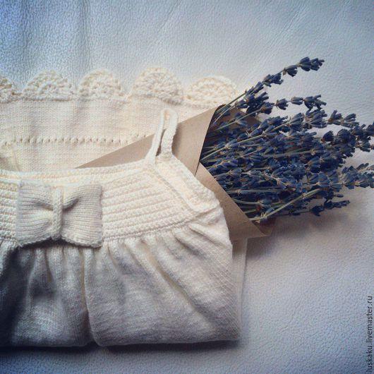 Одежда для девочек, ручной работы. Ярмарка Мастеров - ручная работа. Купить Платье для девочки Вязаное Белый Нежный Воздушный. Handmade.