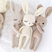Stuffed Toys handmade. Livemaster - original item Knitted Bunny. baby gift. Handmade.
