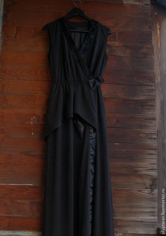 Платья ручной работы. Ярмарка Мастеров - ручная работа. Купить Платье в пол... вечернее.. Handmade. Черный, Платье нарядное