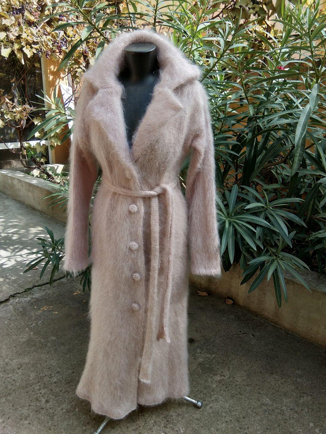 """Пальто вязаное """" Чайная роза"""". Мохер. Ручная работа, Пальто, Сочи,  Фото №1"""