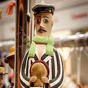 """Куклы и игрушки ручной работы. Ярмарка Мастеров - ручная работа Керамическая кукла-колокольчик """"Остап Бендер"""". Handmade."""