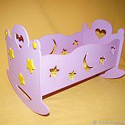Куклы и игрушки handmade. Livemaster - original item Rocking bed for dolls. Handmade.