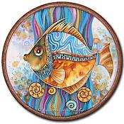 """Картины и панно ручной работы. Ярмарка Мастеров - ручная работа Батик """"Рыбец"""". Handmade."""