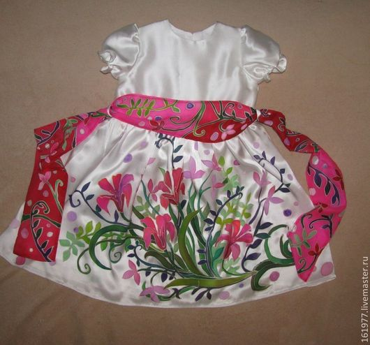 """Одежда для девочек, ручной работы. Ярмарка Мастеров - ручная работа. Купить Платье детское """"Чудесные цветы"""". Handmade. Цветочный, одежда"""