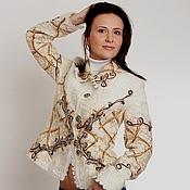 """Одежда ручной работы. Ярмарка Мастеров - ручная работа Жакет шерстяной """"Птичье молоко"""". Handmade."""